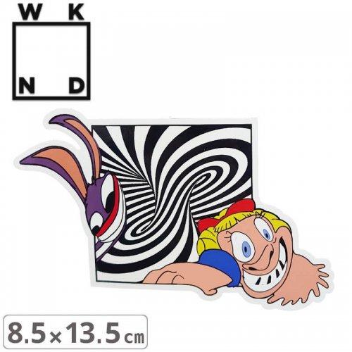 【ウィークエンド WKND スケボー ステッカー】WELCOME TO EARTH STICKER【8.5cmx13.5cm】NO7