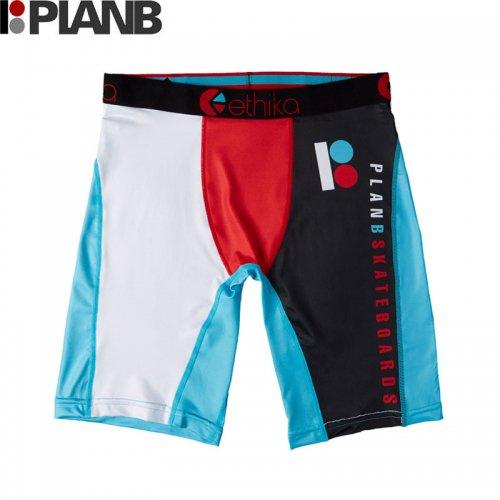 【プランビー PLAN-B スケボー ボクサーパンツ】ETHIKA x PLAN B THE TEAM BOXERS マルチカラー NO2