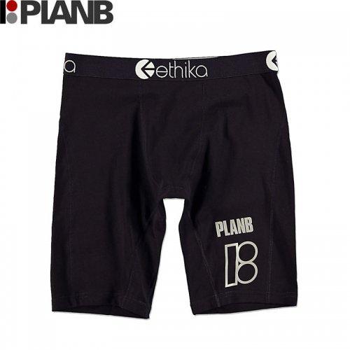【プランビー PLAN-B スケボー ボクサーパンツ】ETHIKA x PLAN B HIT IT BOXERS ブラック NO3