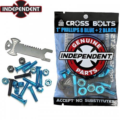 【INDEPENDENT インディペンデント ハードウェア】CROSS BOLTS BLUE ボルト&ナット【プラス】NO15