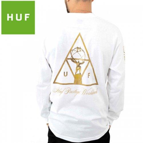 【HUF ハフ ロング Tシャツ 長袖】PRESTIGE TT L/S TEE ホワイト NO8