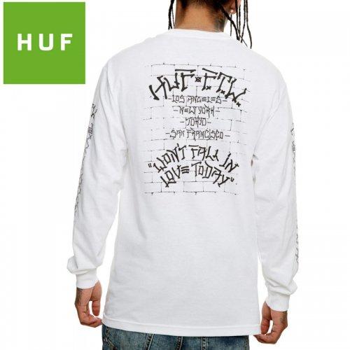 【HUF ハフ ロング Tシャツ 長袖】PAVILLION L/S TEE【ホワイト】NO11