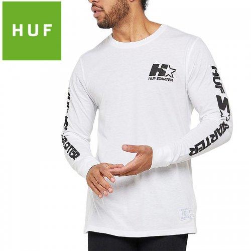 【HUF ハフ ロング Tシャツ 長袖】STARTER L/S TEE【ホワイト】NO12