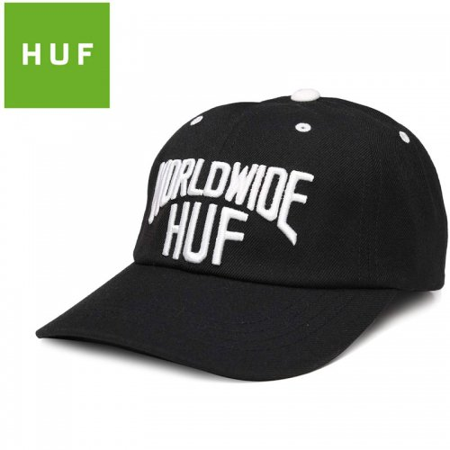 【HUF ハフ キャップ CAP】MANHATTAN CURVED VISOR HAT【ブラック】NO79