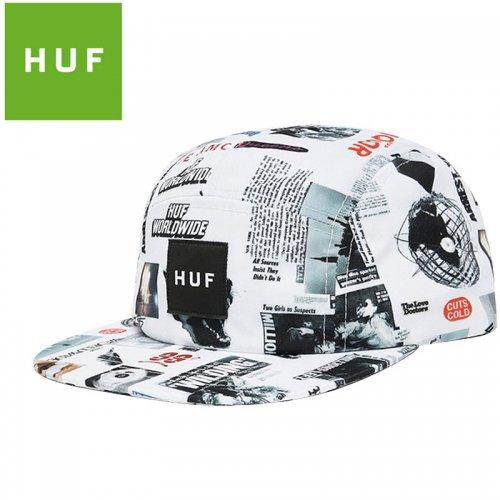 【HUF ハフ キャップ CAP】HEADLINES VOLLEY HAT【ホワイト】NO83