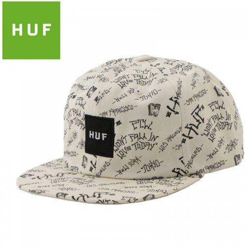 【HUF ハフ キャップ CAP】PAVILLION 6 PANEL HAT【ボーンホワイト】NO85