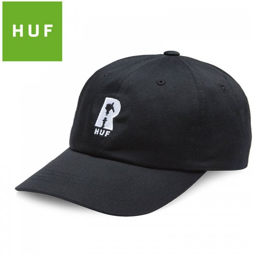 【HUF ハフ キャップ CAP】REAL HYDRANT CV HAT【ブラック】NO88