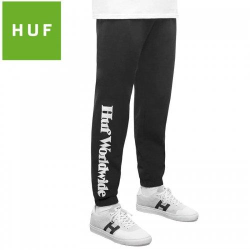 【HUF ハフ スウェットパンツ】ISSUE FLEECE PANTS【ブラック】NO1
