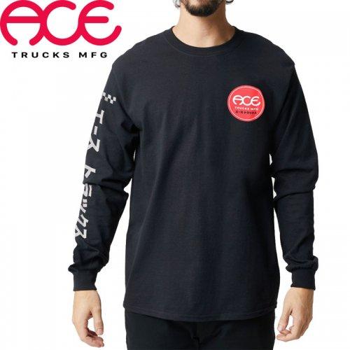 【ACE TRUCKS エース スケボー ロング Tシャツ】KATAKANA LONGSLEEVE TEE【ブラック】NO3