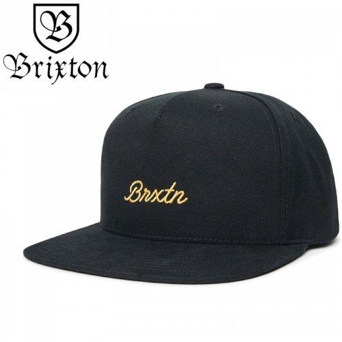【BRIXTON スケボー キャップ】SPRINT MP MENS SNAPBACK HAT【ブラック】NO37