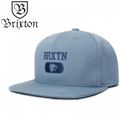 【BRIXTON スケボー キャップ】FORTE VI MP SNAPBACK HAT【アズールアフマドグレー】NO39