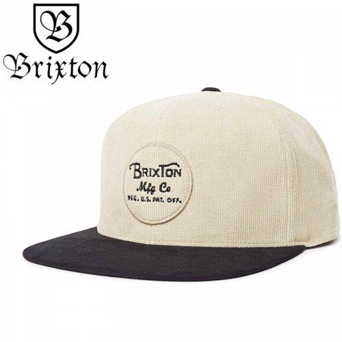 【BRIXTON スケボー キャップ】WHEELER SNAPBACK HAT【ブラックxバニラ】NO40