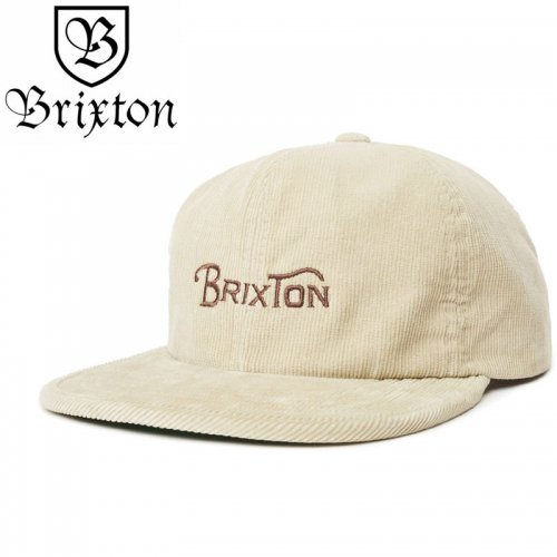【BRIXTON スケボー キャップ】WHEELIE HAT【バニラ】NO41