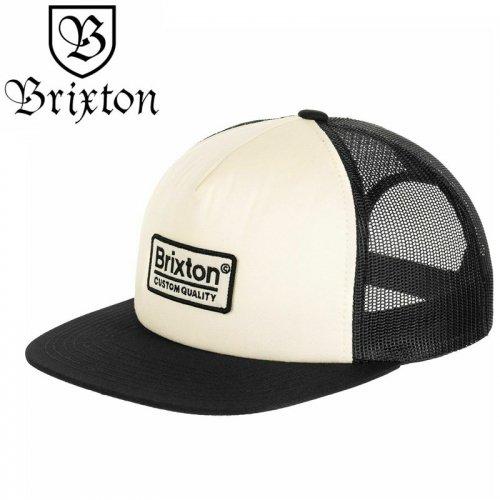 【BRIXTON スケボー キャップ】PALMER MESH HAT【オフホワイトxブラック】NO42