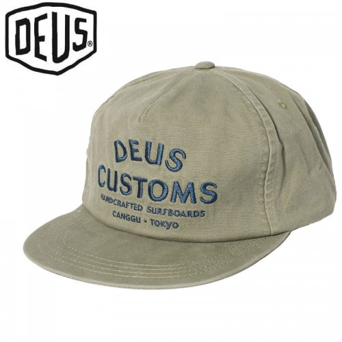 USA正規品【DEUS EX MACHINA デウス バイク サーフ キャップ 帽子】JOE CAP【オリーブグリーン】NO11