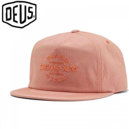 USA正規品【DEUS EX MACHINA デウス バイク サーフ キャップ 帽子】BACKSIDE CAP【ピーチピンク】NO14
