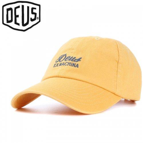 USA正規品【DEUS EX MACHINA デウス バイク サーフ キャップ 帽子】SUNBLEACHED CAP【アプリコット】NO15
