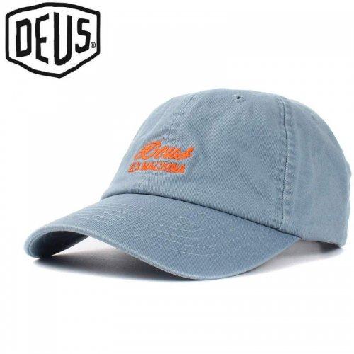 USA正規品【DEUS EX MACHINA デウス バイク サーフ キャップ 帽子】SUNBLEACHED CAP【ブルー】NO16