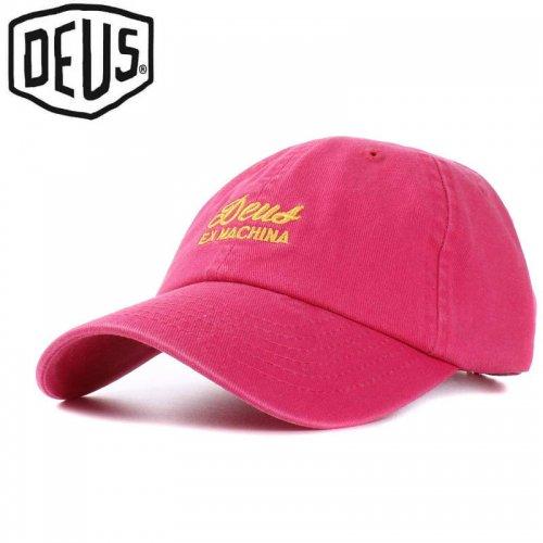 USA正規品【DEUS EX MACHINA デウス バイク サーフ キャップ 帽子】SUNBLEACHED CAP【カーマインレッド】NO17
