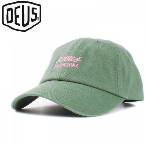USA正規品【DEUS EX MACHINA デウス バイク サーフ キャップ 帽子】SUNBLEACHED CAP【コンフリーグリーン】NO18