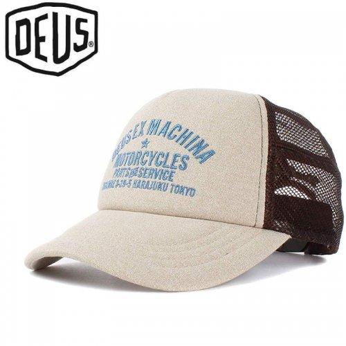 USA正規品【DEUS EX MACHINA デウス バイク サーフ キャップ 帽子】MARLE TOKYO TRUCKER HAT【サファリ】NO19