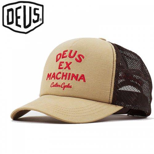 USA正規品【DEUS EX MACHINA デウス バイク サーフ キャップ 帽子】DIEGO TRUCKER HAT【サファリ】NO24