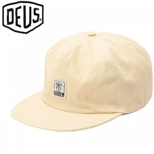 【DEUS EX MACHINA デウス バイク サーフ キャップ 帽子】USAモデル GIMENEZ 5 PANEL CAP【シードパール】NO26