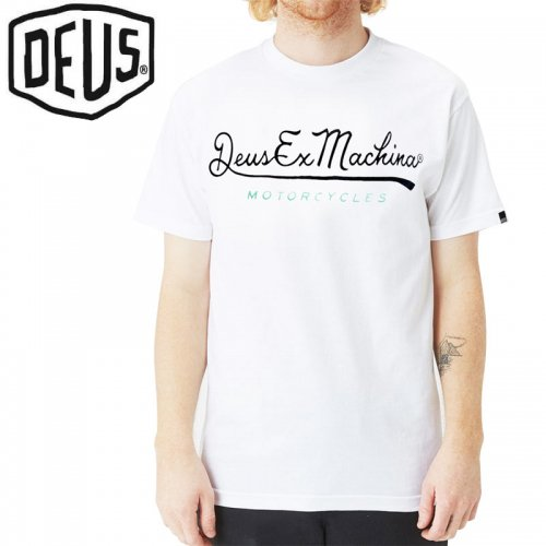 USA正規品【DEUS EX MACHINA デウス バイク ストリート Tシャツ】2ND BASE S/S TEE【ホワイト】NO24