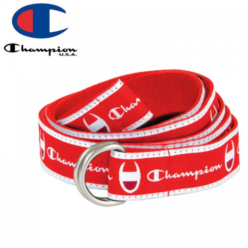 【CHAMPION チャンピオン ベルト】CADET D-RING BELT レッド NO3