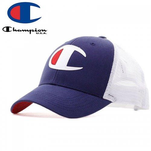 【CHAMPION チャンピオン メッシュキャップ】TWILL MESH DAD CAP【インディゴ】NO1