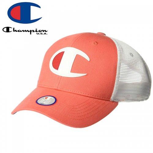 【CHAMPION チャンピオン メッシュキャップ】TWILL MESH DAD CAP【パパイヤ】NO2