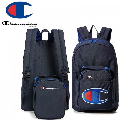 【CHAMPION チャンピオン バックパック】SUPERCIZE BACKPACK WITH REMOVABLE LUNCH BAG ネイビー NO22