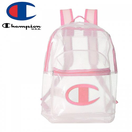 【CHAMPION チャンピオン バックパック】CLEAR SUPERCIZE YOUTH BACKPACK ガールズ ピンク クリア NO23