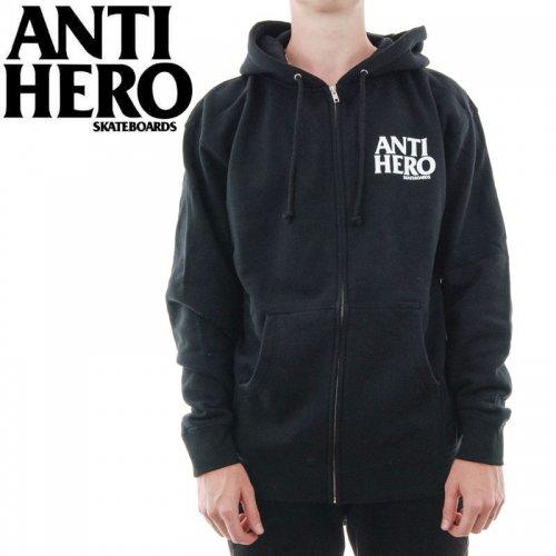 【ANTI HERO HOOD アンチヒーロー パーカー】LIL BLACKHERO ZIP HOODIE【ブラック】NO8