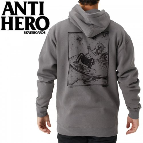 【ANTI HERO アンチヒーロー パーカー】SKULL MOUNTAIN PULLOVER HOODIE【チャコールグレー】NO13