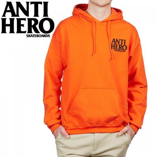 【ANTI HERO アンチヒーロー パーカー】LIL BLACK HERO EMBROIDERY PULLOVER HOODIE【オレンジ】NO19