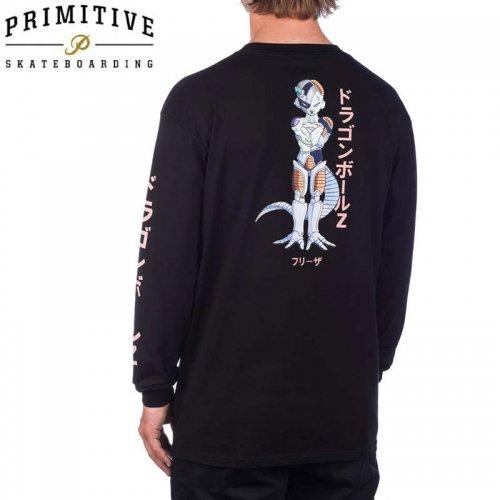 【PRIMITIVE プリミティブ スケボー ロング Tシャツ】FRIEZA MECHA LS TEE ドラゴンボールコラボ【ブラック】NO15