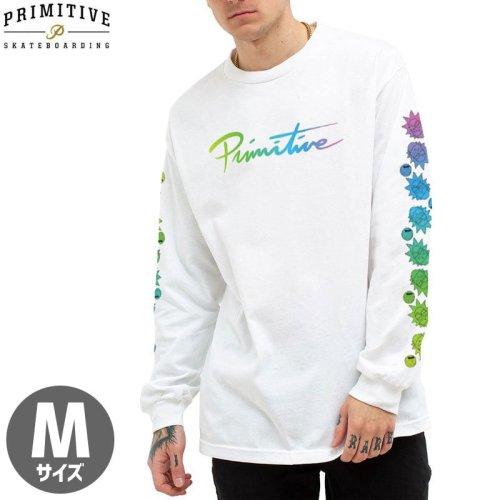 【PRIMITIVE プリミティブ スケボー ロング Tシャツ】RNM NUEVO GRADIENT LS TEE リック・アンド・モーティコラボ【ホワイト】NO20