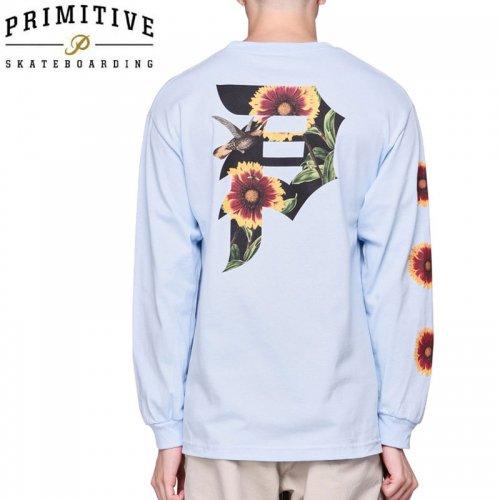 【PRIMITIVE プリミティブ スケボー ロング Tシャツ】DIRTY P SUNFLOWER LS TEE【パウダーブルー】NO21