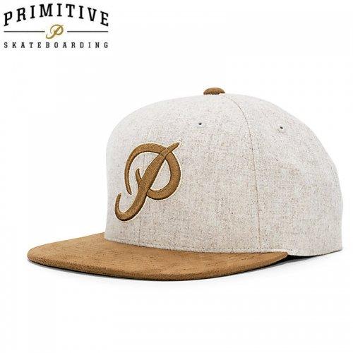 【PRIMITIVE プリミティブ スケボー キャップ】CLASSIC P WOOL SNAPBACK HAT【タンxブラウン】NO7