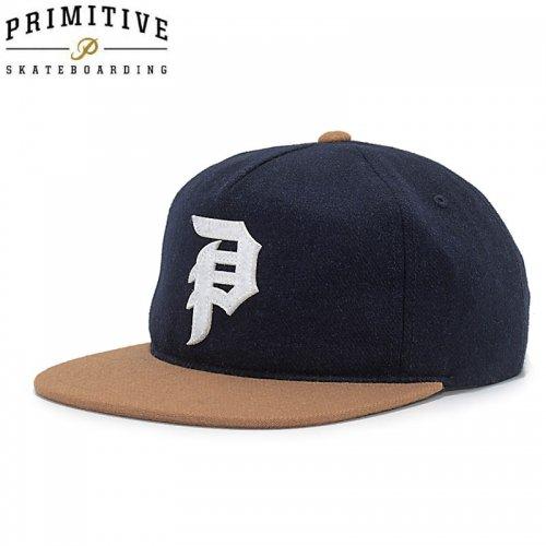 【PRIMITIVE プリミティブ スケボー キャップ】DIRTY P STRAPBACK HAT【ネイビー】NO8