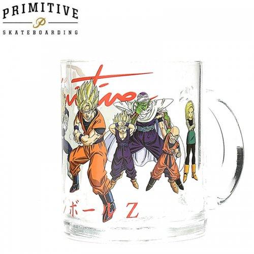 【PRIMITIVE プリミティブ スケボー マグカップ】DBZ HEROS MUG ドラゴンボールコラボ【クリアガラス】NO1
