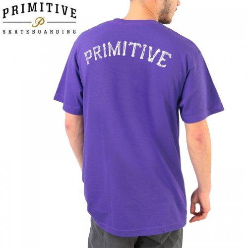 【PRIMITIVE プリミティブ スケボー Tシャツ】BONES GLOW TEE【パープル】NO11