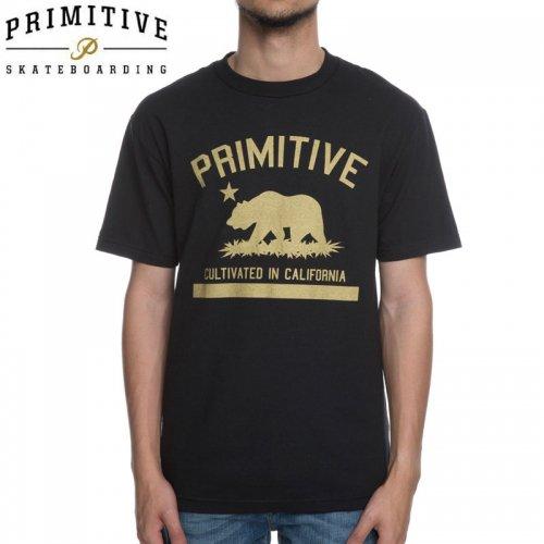 【PRIMITIVE プリミティブ スケボー Tシャツ】CULTIVATED TEE【ブラック】NO14