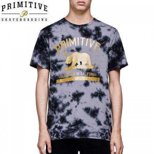【PRIMITIVE プリミティブ スケボー Tシャツ】CULTIVATED WASHED TEE【ブラック タイダイ】NO16
