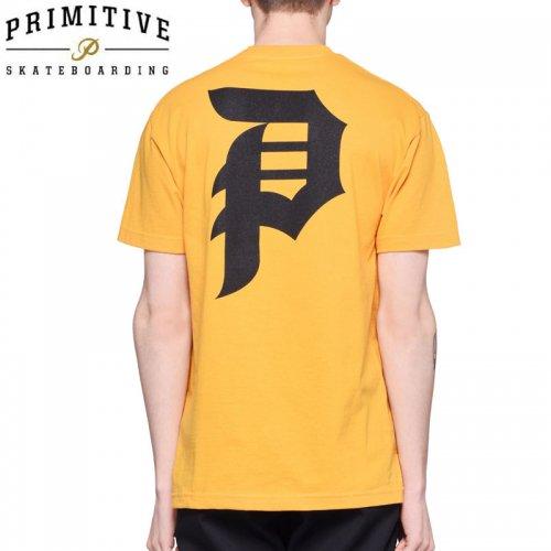 【PRIMITIVE プリミティブ スケボー Tシャツ】DIRTY P CORE TEE【ゴールド イエロー】NO19