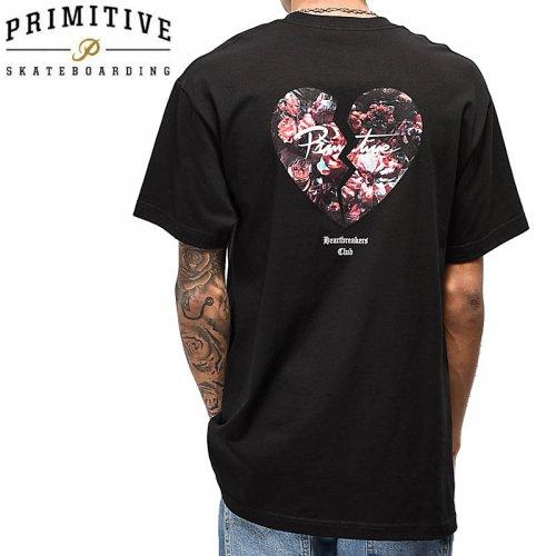 【PRIMITIVE プリミティブ スケボー Tシャツ】BROKEN TEE【ブラック】NO20