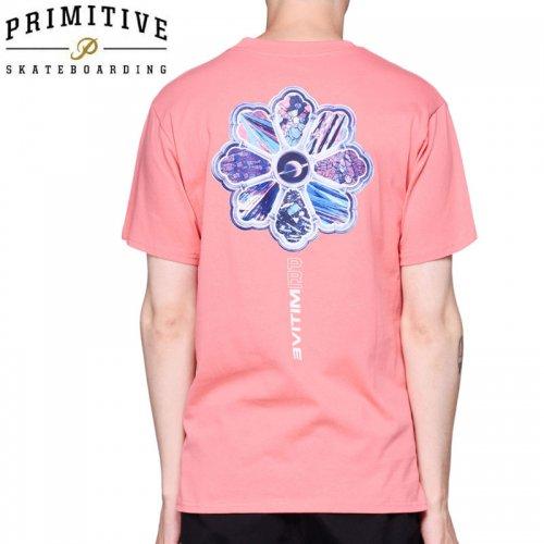 【PRIMITIVE プリミティブ スケボー Tシャツ】INFINITE TEE【コーラル ピンク】NO21