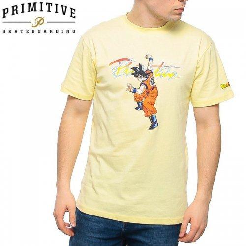 【PRIMITIVE プリミティブ スケボー Tシャツ】NUEVO GOKU TEE ドラゴンボールコラボ【バナナイエロー】NO25
