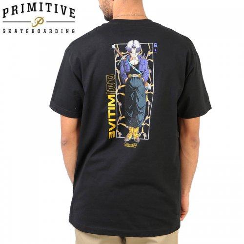 【PRIMITIVE プリミティブ スケボー Tシャツ】TRUNKS GLOW TEE ドラゴンボールコラボ【ブラック】NO26